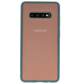 Color combination Hard Case for Galaxy S10 Plus Dark Green