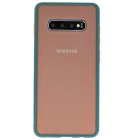 Kleurcombinatie Hard Case voor Galaxy S10 Plus Donker Groen