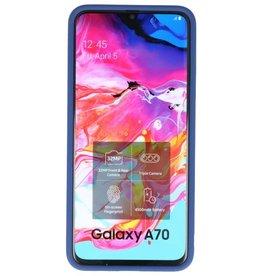 Kleurcombinatie Hard Case voor Galaxy A70 Blauw