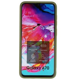 Kleurcombinatie Hard Case voor Galaxy A70 Groen