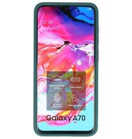 Kleurcombinatie Hard Case voor Galaxy A70 Donker Groen