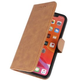 Bookstyle Wallet Cases Hoes voor iPhone 11 Pro Bruin