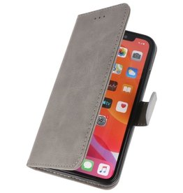 Bookstyle Wallet Cases Hülle für iPhone 11 Pro Grau