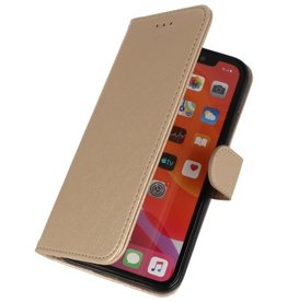 Bookstyle Wallet Cases Cover for iPhone 11 Pro Max Gold