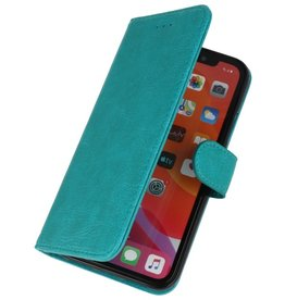 Bookstyle Wallet Cases Hoes voor iPhone 11 Pro Max Groen