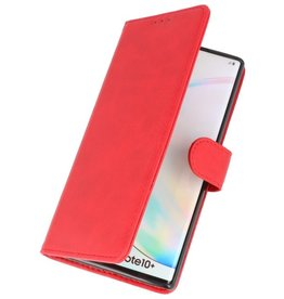 Bookstyle Wallet Cases Hoes voor Samsung Galaxy Note 10 Plus Rood