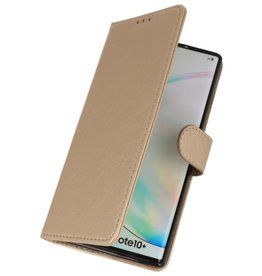 Bookstyle Wallet Cases Cover for Samsung Galaxy Note 10 Plus Gold