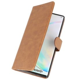 Bookstyle Wallet Cases Cover für Samsung Galaxy Note 10 Plus Braun