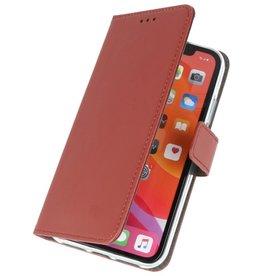 Wallet Cases Hoesje voor iPhone 11 Bruin