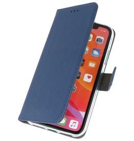 Wallet Cases Hoesje voor iPhone 11 Pro Max Navy