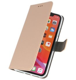 Wallet Cases Hoesje voor iPhone 11 Pro Max Goud