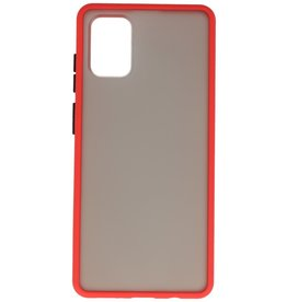 Color combination Hard Case for Samsung Galaxy A71 Red