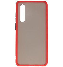 Color combination Hard Case for Huawei P30 Red
