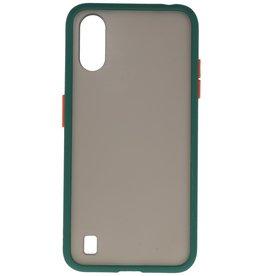 Color combination Hard Case for Samsung Galaxy A01 Dark Green