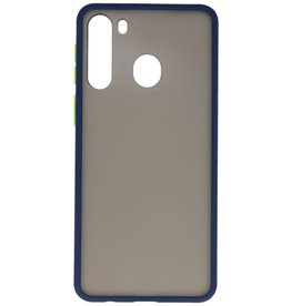 Color combination Hard Case for Samsung Galaxy A21 Blue