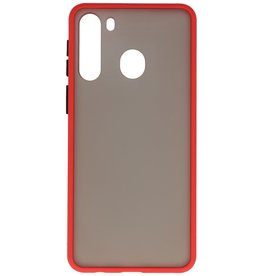Color combination Hard Case for Samsung Galaxy A21 Red