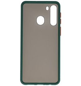 Color combination Hard Case for Samsung Galaxy A21 Dark Green