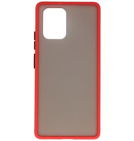 Color combination Hard Case for Samsung Galaxy A91 Red
