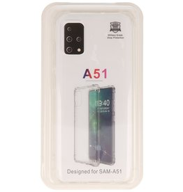 Shockproof transparent TPU case for Samsung Galaxy A51