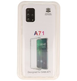 Shockproof transparent TPU case for Samsung Galaxy A71