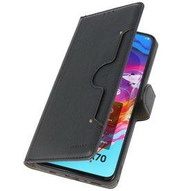 Luxury Wallet Case for Samsung Galaxy A70 Black