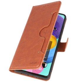 Luxus-Brieftasche für Samsung Galaxy A51 Brown