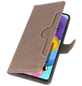 Luxe Portemonnee Hoesje voor Samsung Galaxy A51 Grijs