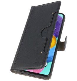 Luxus Brieftasche Fall für Samsung Galaxy A71 Schwarz