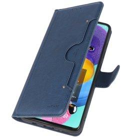 Luxus Brieftasche Fall für Samsung Galaxy A71 Navy