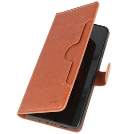 Luxury Wallet Case for Samsung Galaxy S20 Plus Brown