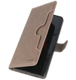 Luxus Brieftasche Hülle für Samsung Galaxy S20 Plus Grau