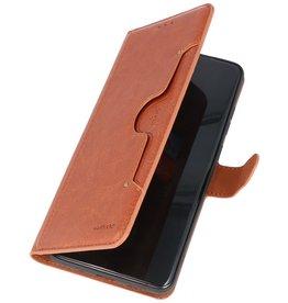 Luxe Portemonnee Hoesje voor Samsung Galaxy S20 Ultra Bruin