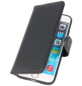 MF Handmade Leather Bookstyle Hülle iPhone 8 - 7 Schwarz