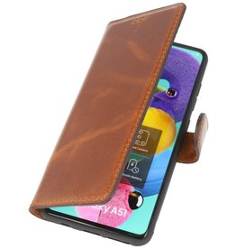 MF Handmade Leather Bookstyle Fall Samsung Galaxy A51 Brown