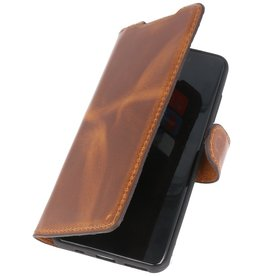 MF Handmade Leather Bookstyle Case Samsung Galaxy S20 Brown