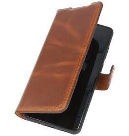 MF Handmade Leather Bookstyle Case Samsung Galaxy S20 Plus Brown