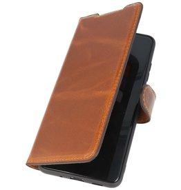 MF Handmade Leer Bookstyle Hoesje Samsung Galaxy S20 Ultra Bruin
