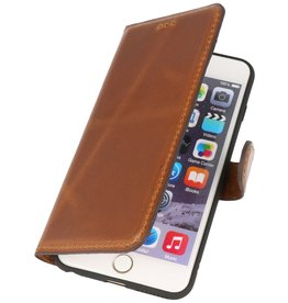 MF Handmade Leather Bookstyle Hülle iPhone 6 Plus Brown