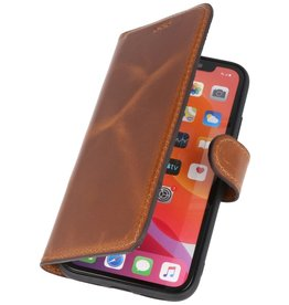 MF Handmade Leather Bookstyle Hülle iPhone 11 Braun