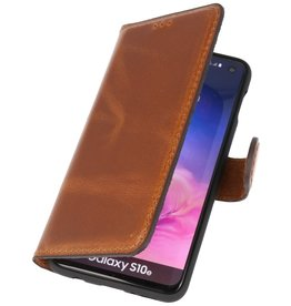 MF Handmade Leather Bookstyle Case Samsung Galaxy S10e Brown
