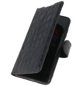 MF Crocodile Handmade Ledertasche Samsung Galaxy S20 Ultra Black