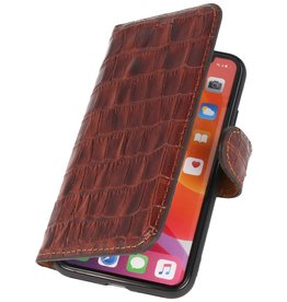 MF Crocodile Handmade Leather Case iPhone Xs / X Brown