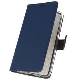 Wallet Cases Hoesje voor Huawei Nova 7i Navy