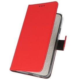 Brieftasche Hülle für Huawei Nova 7i Red