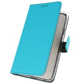 Wallet Cases Hoesje voor Samsung Galaxy M31 Blauw