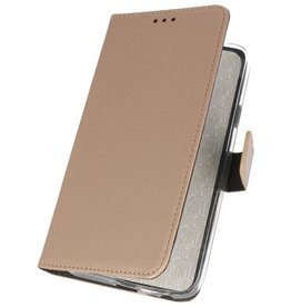 Wallet Cases Hoesje voor Samsung Galaxy M31 Goud