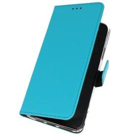Wallet Cases Hoesje voor Samsung Galaxy A01 Blauw