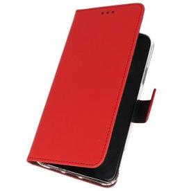 Wallet Cases Hoesje voor Samsung Galaxy A01 Rood