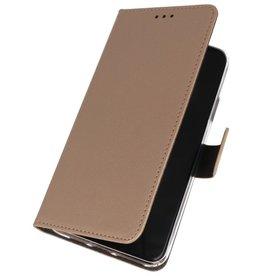 Wallet Cases Hoesje voor Samsung Galaxy A01 Goud