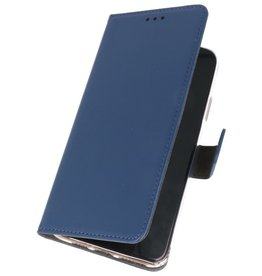 Wallet Cases Hoesje voor Samsung Galaxy Note 10 Lite Navy
